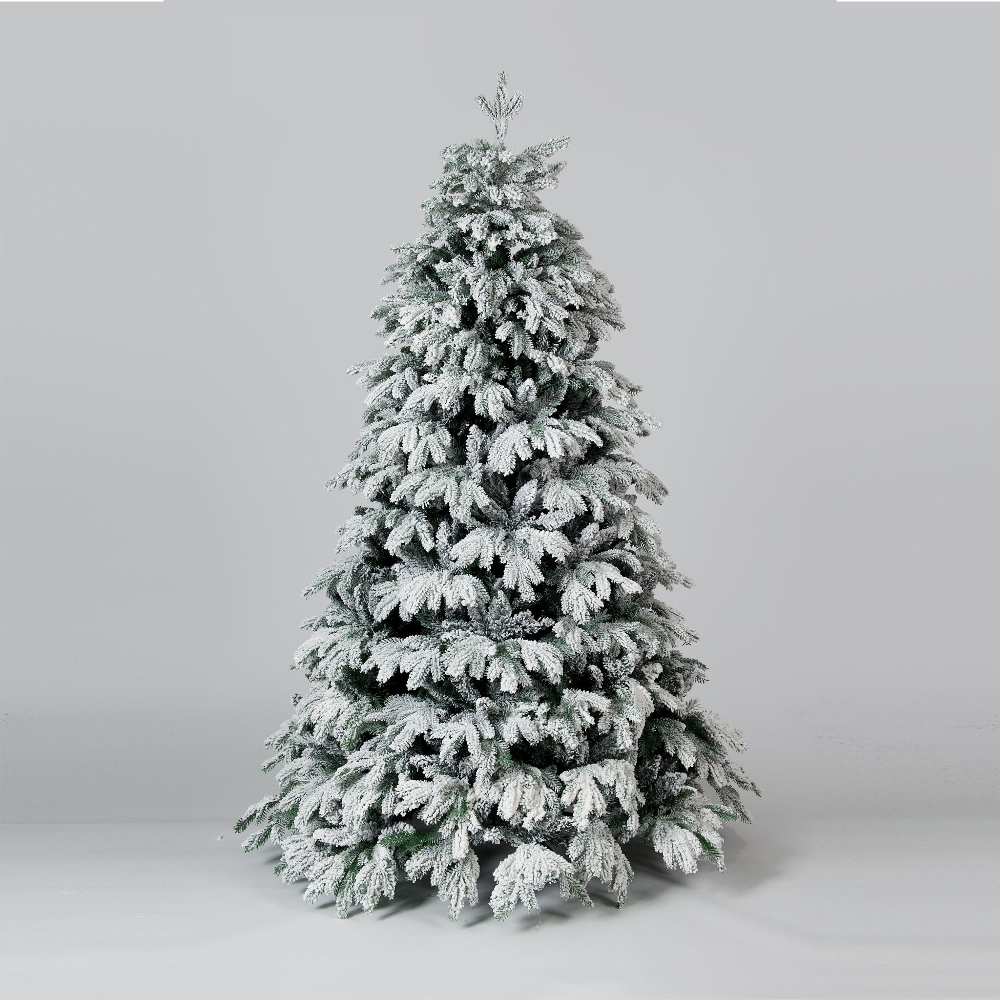 12 Ft Flocked Christmas Tree: 5ft 6ft Or 7ft Cascade Premium Snow Flocked PE Christmas